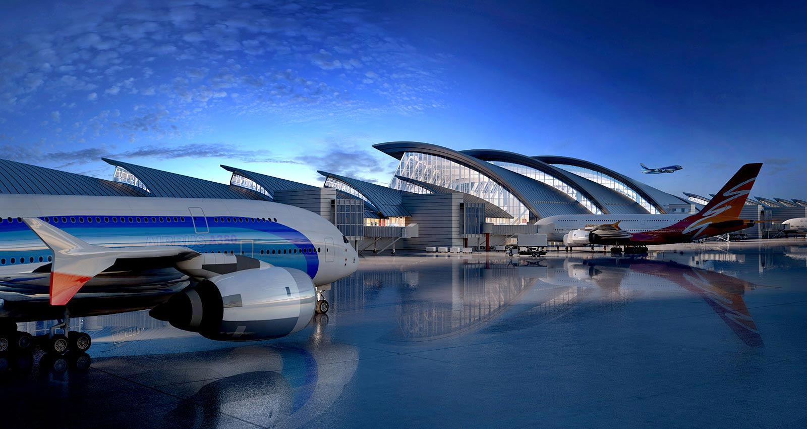 Background Image Tom Bradley International Airport Rendering