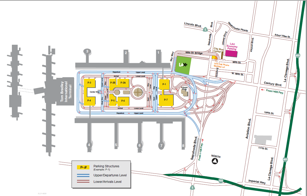 How to enter LAX and Parking Map